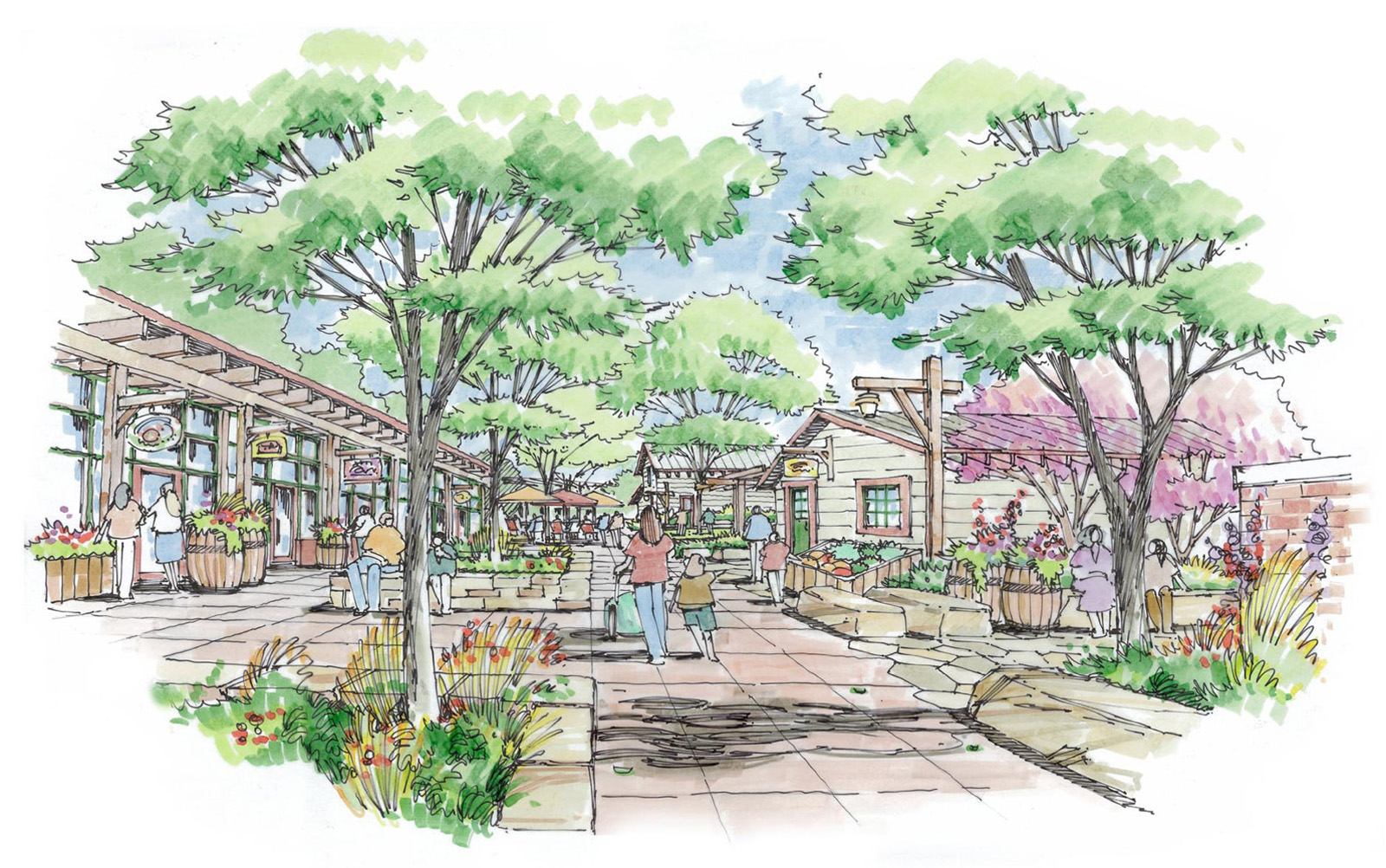 Sketch of the Jessup Farm Artisan Village