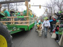 A shetland pony walked with our float