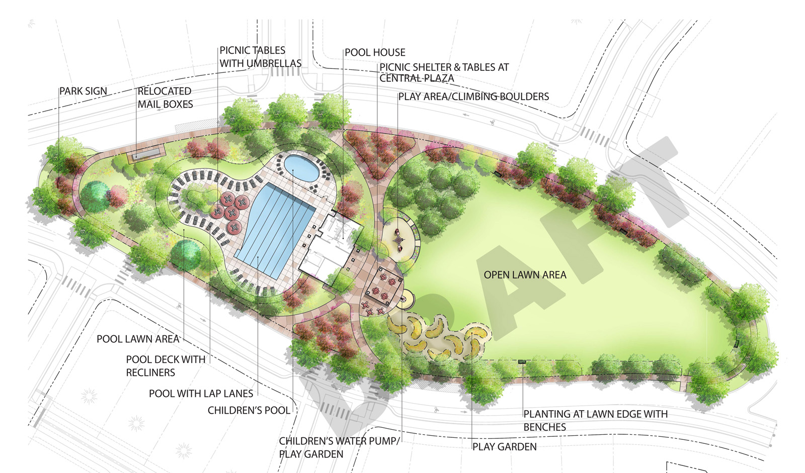 Bucking Horse Neighborhood Park and Pool Plan