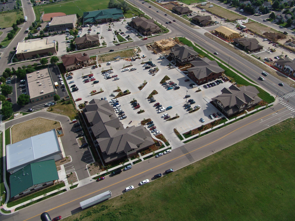 Aerial view of the Timberline Office Park