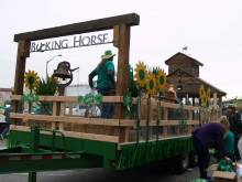 Bucking Horse St. Patrick's Day parade float