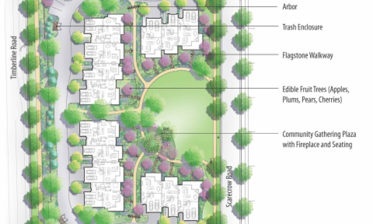 Example site plan of block 3 of the Townhomes