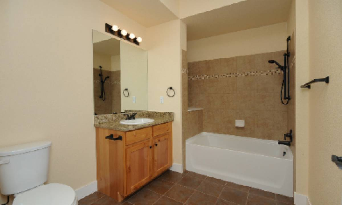 Bathrooms are also updated and spacious
