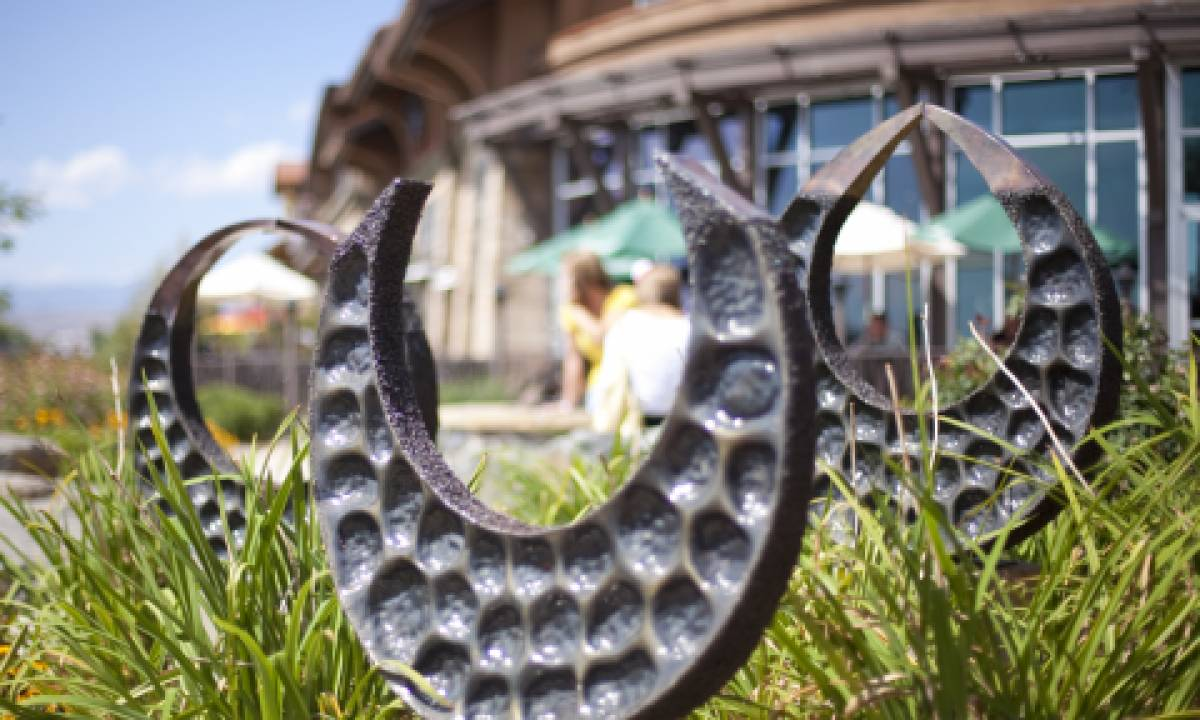 The artwalk in 2011 featured distinct sculptures by artists in the region