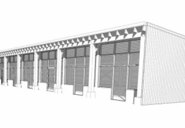 Renovated Loafing Shed As Retail Office Service Building